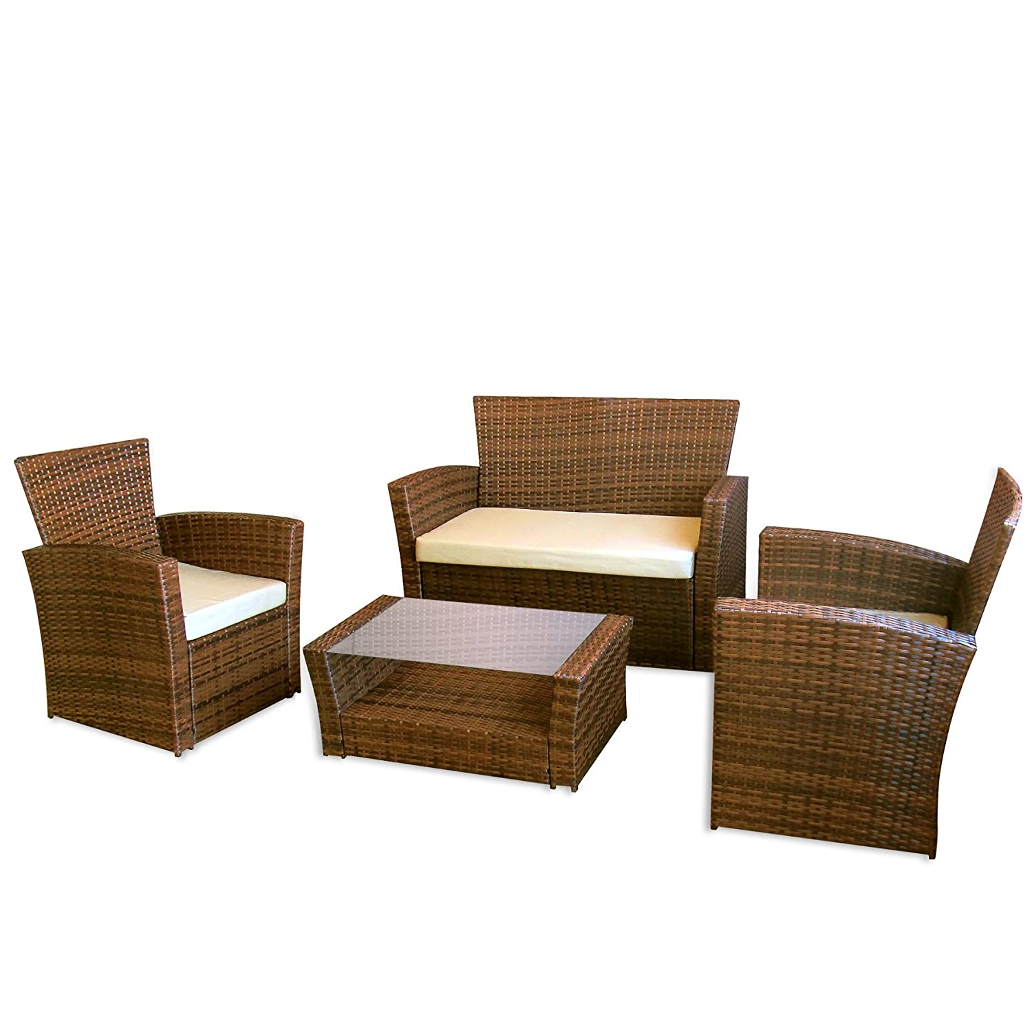 gartenm bel le havre in braun ii garten lounge von jet line moebel rattan polyrattan. Black Bedroom Furniture Sets. Home Design Ideas