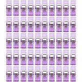 Sensail 50PCS Clips Pinces Clair en Plastique pour Reliure Couture Artisanat (Violet)