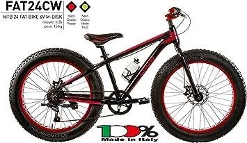 CICLI PUZONE Bicicleta Medida 24 niño MTB Fat Bike Crow Aluminio 6 V Art. FAT24CW: Amazon.es: Deportes y aire libre