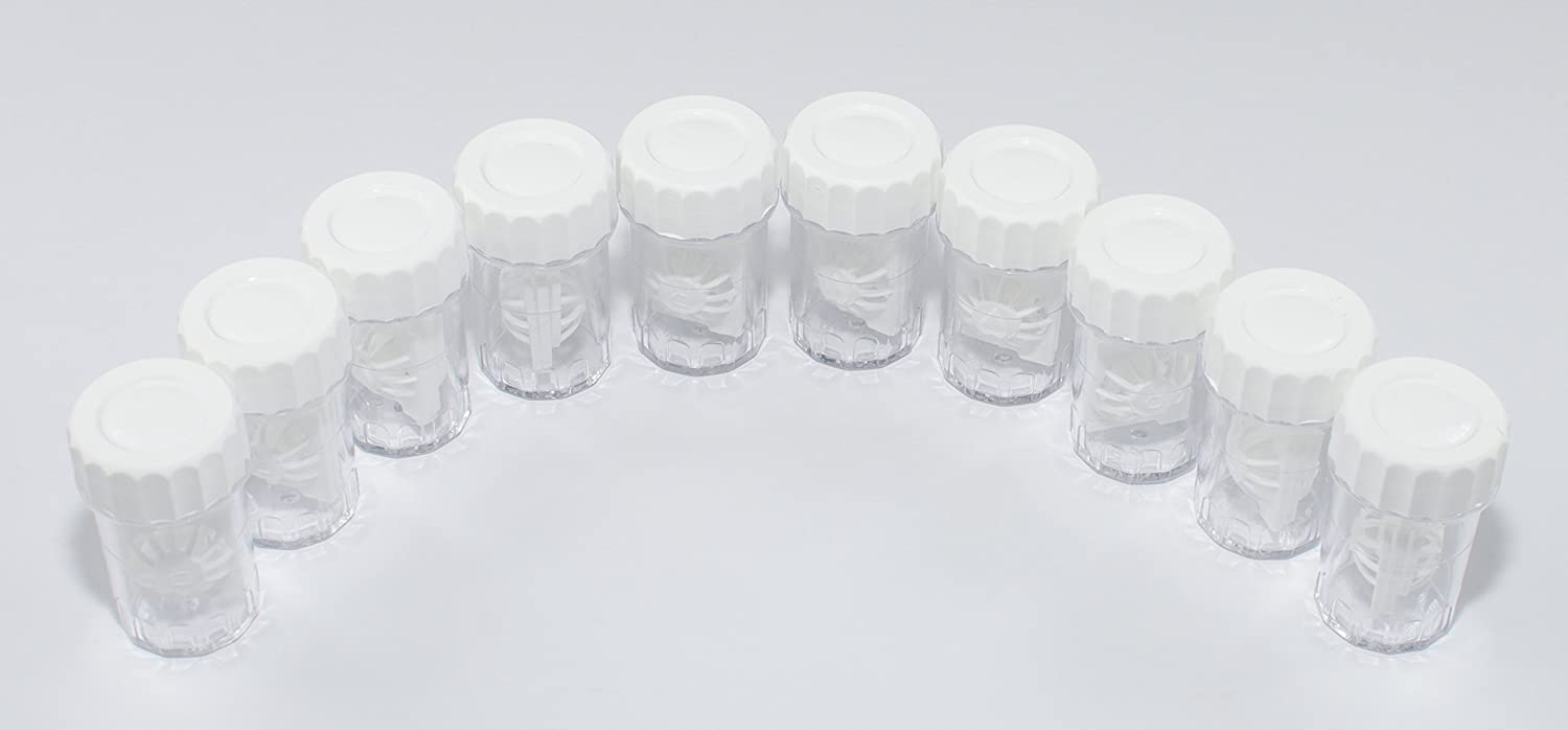 Sports Vision's Contact lens Cases - Standard Barrel Type 10 Pieces CE Marked & FDA Approved Sports Vision World