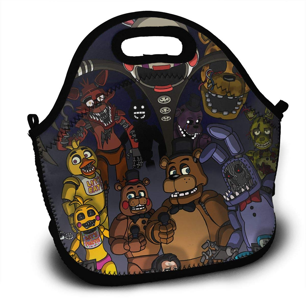 8a770ed8561a Amazon.com - Sunmoonet Lunch Tote Bag Five-Nights-at-Freddy Bento ...