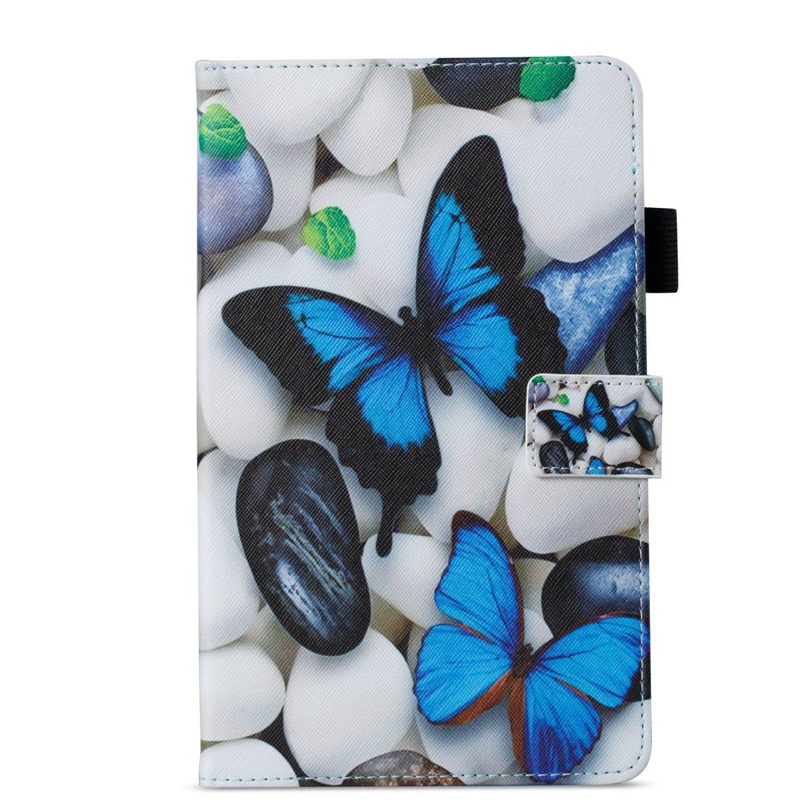 T385 T380 /Étui Magn/étique Coque Stand Housse Coque Flip Cuir Leather Housse de Protection Cute Colorful Pattern Conception Y04 Romantronic Samsung Galaxy Tab A 8.0 Pouces 2017 SM