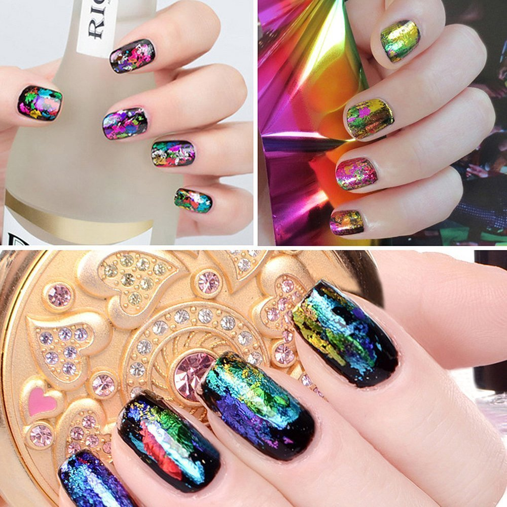 Amazon.com: Newest Fashion Nail Art Transfer Foil Mix Color Tiger /Leopard  /Zebra etc. Nail Sticker Tip Decoration , Any 8 pcs .: Beauty