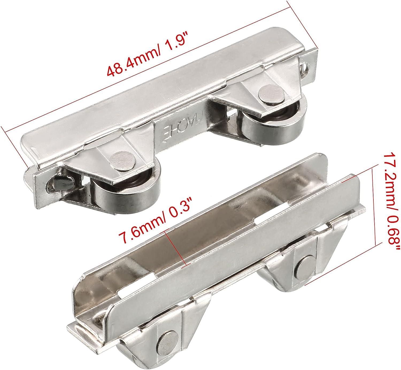 5 Pcs 6mm Metal Axles Window Pulley Door Sliding Two Rollers Wheel