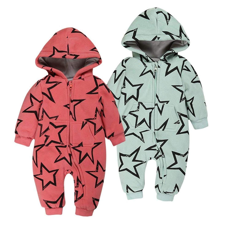 Carlos Foushee Baby Boy Girl Hooded Jumpsuit Romper Long Sleeve Outfit