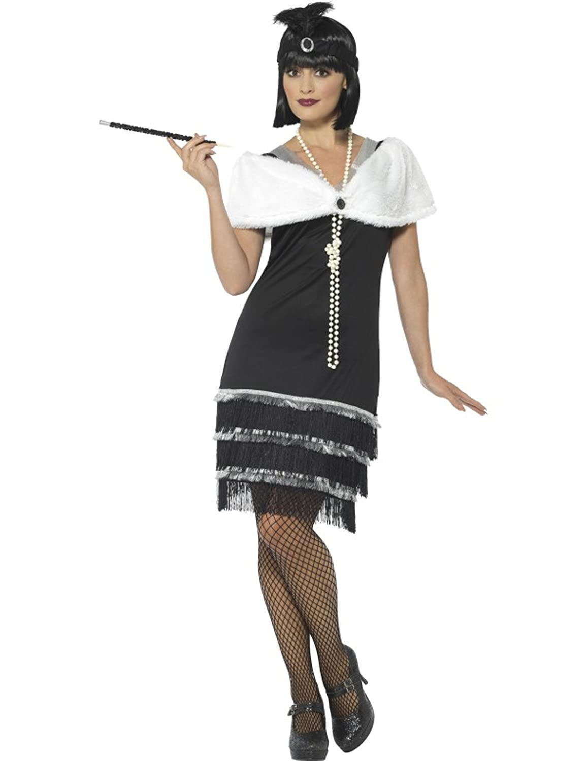 Roaring 20s Costumes- Flapper Costumes, Gangster Costumes Smiffys Womens Flapper Costume $23.59 AT vintagedancer.com