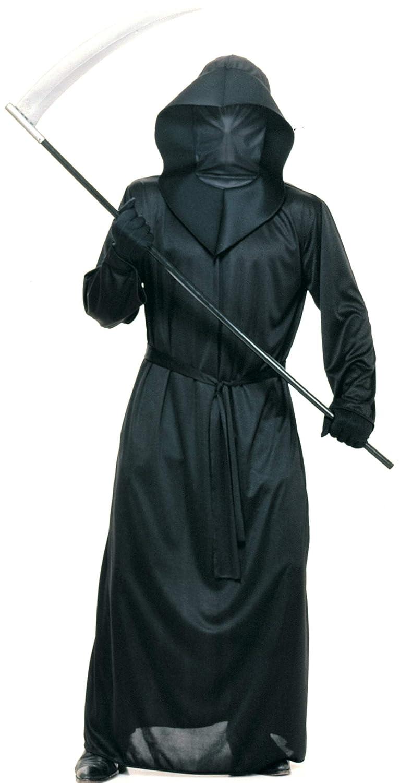 Adult Mens Mesh Face Robe Black Standard Costume Rubies Costumes - Apparel 15241