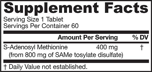 Amazon.com: Jarrow Formulas SAM-e 0.007 oz Suplemento ...