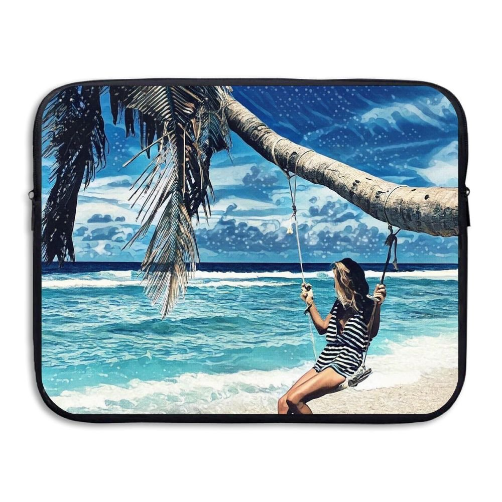 Fashion Laptop Sleeve Case Summer Tropic Beach Girl Computer Storage Bag Portable Protective Bag Briefcase Sleeve Bags Cover For Macbook/Ultrabook/Notebook/Laptop