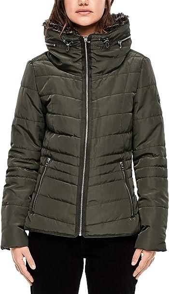 s.Oliver Puffer Jacket mit Kapuze Outdoorjacken olive Damen