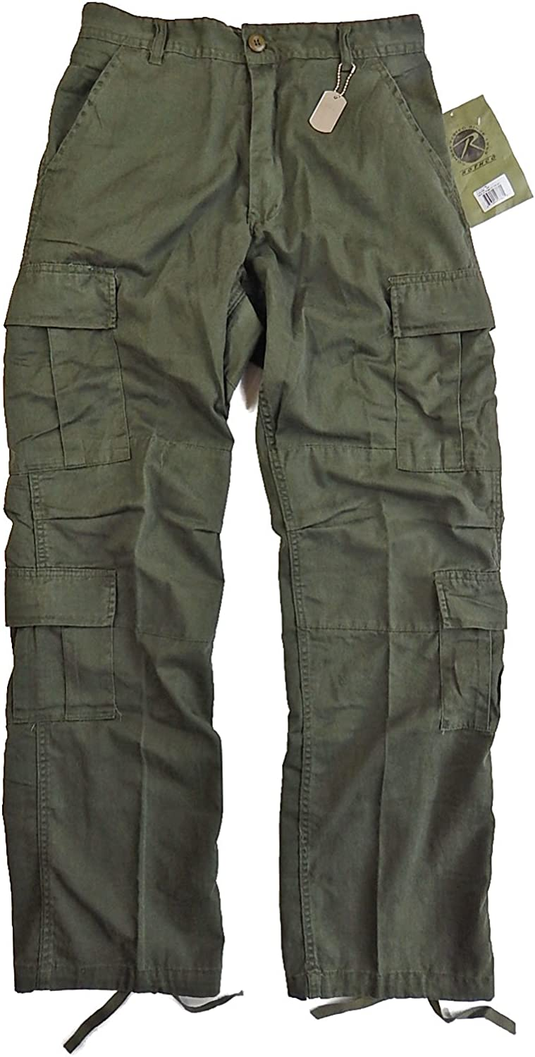 Rothco Vintage Paratrooper Fatigues, Olive Drab, Large: Clothing