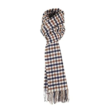 48b3f563f0ad Aquascutum Homme Lambswool CC Checked Scarf, Marron, One Size ...
