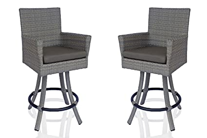Amazoncom Dola Patio Bar Stools With Back All Weather Outdoor
