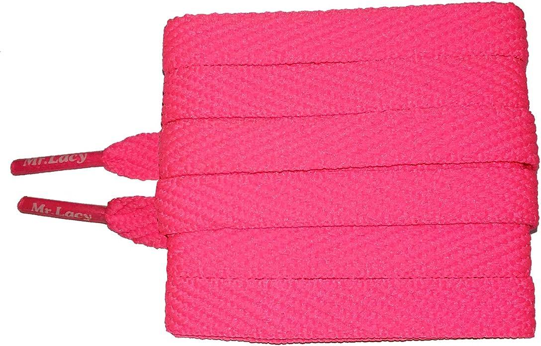 High quality shoelaces 130 cm long,10 mm Flat Violet Laces Mr Lacy Flatties