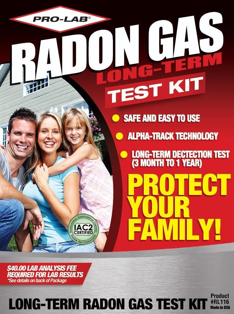 PRO-LAB Long-Term Radon Gas Test Kit RL116