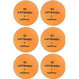 ARTENGO FB800 Table Tennis Balls Pack of 6 - Orange