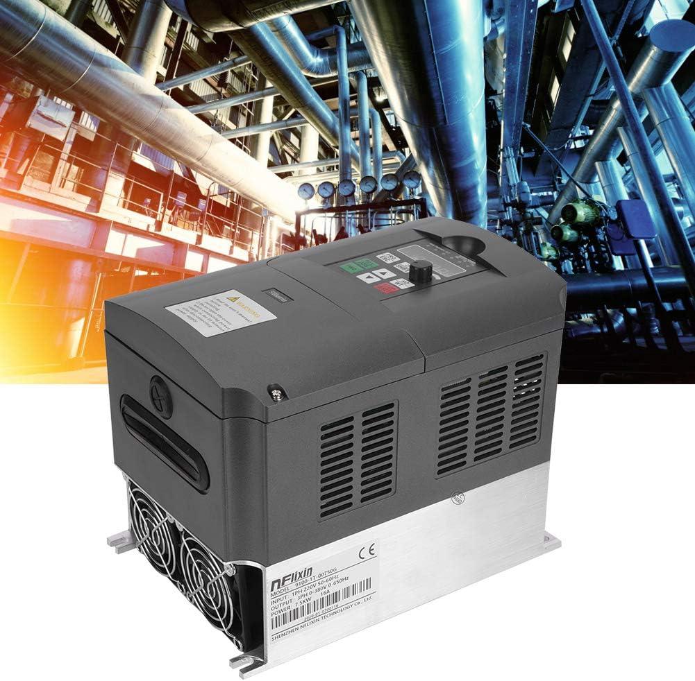Convertisseur de fr/équence variable 7.5KW entra/înement monophas/é de fr/équence de sortie 380V triphas/é 220VAC