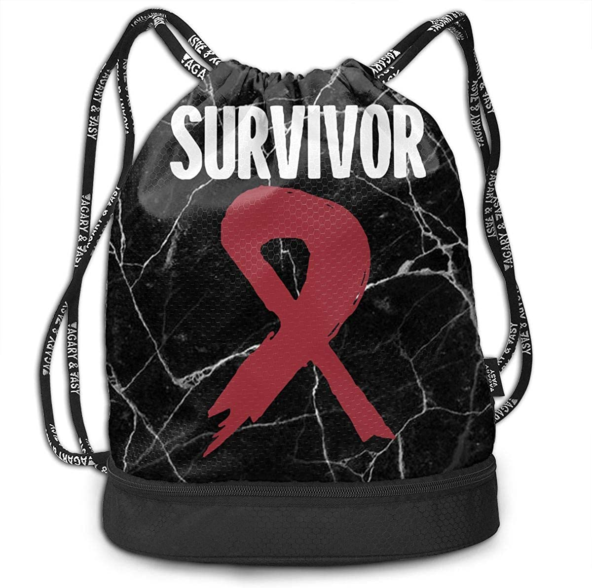 Drawstring Sport Bag Survivor Multiple Myeloma Awareness Flag Men Women Yoga Dance Travel Shoulder Bags