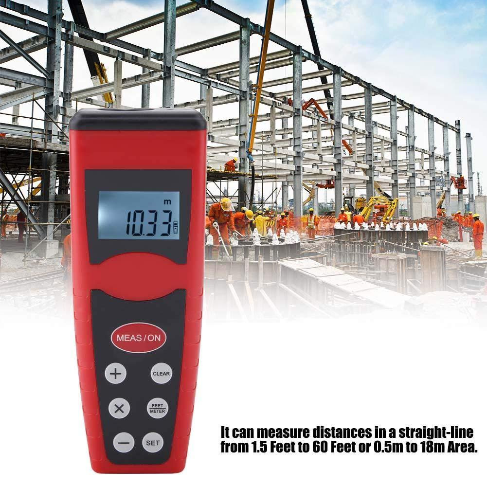 CP3000 Ultraschall Entfernungsmesser Digital LCD Handl/ängen Entfernungsmesser drahtloser elektronischer Laser Entfernungsmesser