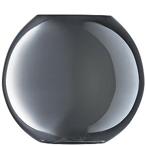 LSA International 16cm Polka Vase, Verre, platine, 17.7 x 17.7 x 16 cm