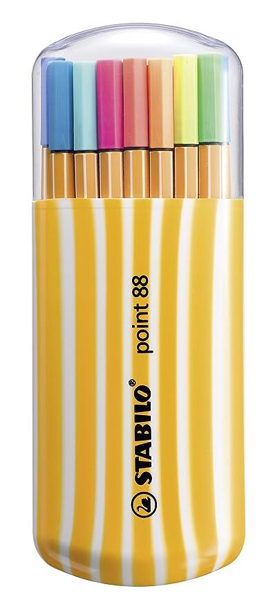 Rotulador punta fina STABILO point 88 - Estuche premium Zebrui con 20 colores