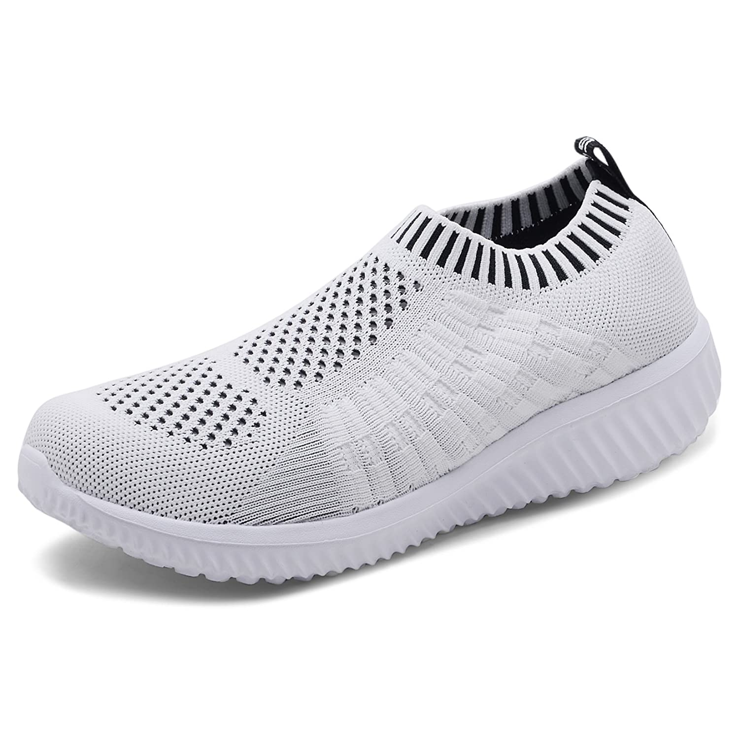 TIOSEBON Women's Athletic Shoes Casual Mesh Walking Sneakers - Breathable Running Shoes B07DNCLSKV 10 M US|6701 White