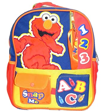 ca456f01121c Image Unavailable. Image not available for. Color  12 quot  Sesame Street  Elmo Toddler Backpack
