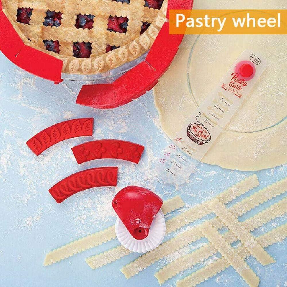 Gancunsh cuchillo de pizza Cortador de reposter/ía para cocina decoraci/ón de rueda rodante manual cortador de fideos decoraci/ón de pasteles