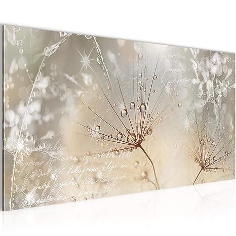 Bilder Blumen Pusteblume Wandbild 100 x 40 cm Vlies - Leinwand Bild XXL  Format Wandbilder Wohnzimmer Wohnung Deko Kunstdrucke Braun 1 Teilig - Made  IN ...