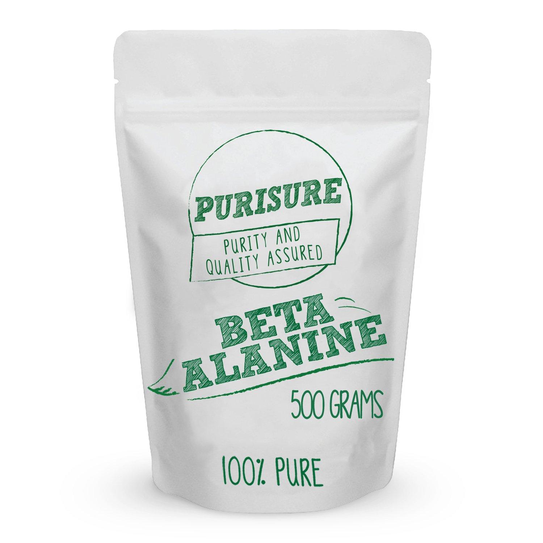 Beta Alanine Powder 500g (667 Servings) – Bulk Pre Workout Nutrition – Unflavored Supplement