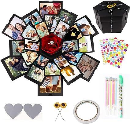 Hexagon Greenke Explosion Box Love Box Creative Album Gift Box Love Memory DIY Photo Album Scrapbook for Christmas New Year Wedding Birthday Anniversary Gifts