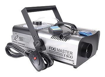 Excelighting niebla Máquina de humo Maestro 1500: Amazon.es: Instrumentos musicales