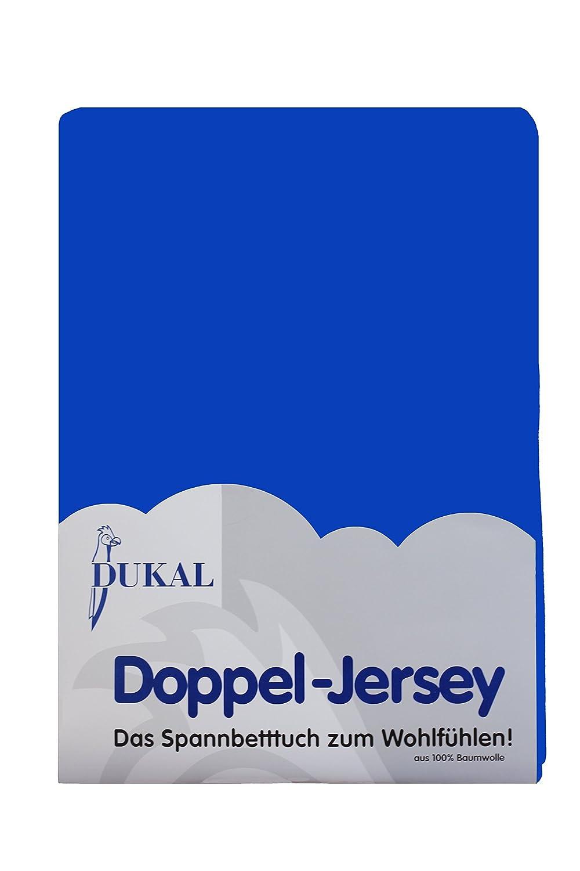 DUKAL, Spannbettlaken, für runde & achteckige Matratzen  Durchmesser ca. 255-265 cm, aus hochwertigem DOPPEL-JERSEY (100% Baumwolle), Farbe  caribic