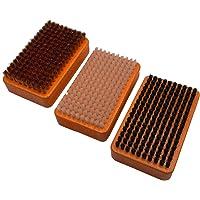RiSki skidborstar 3-set med nylonborste, rosshaarborste och kopparborste