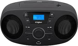 Bigben Interactive CD61NUSB Portable CD Player Black CD Player – CD Drive (FM, PLL, Audio CD, LED, Digital, AC Current, Battery, 290 mm)