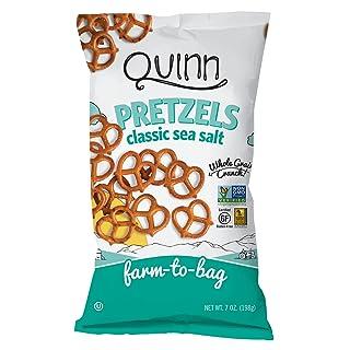 Quinn Snacks Non-GMO and Gluten Free Pretzels, Classic Sea Salt Twists, 7 Ounce (3 Count)
