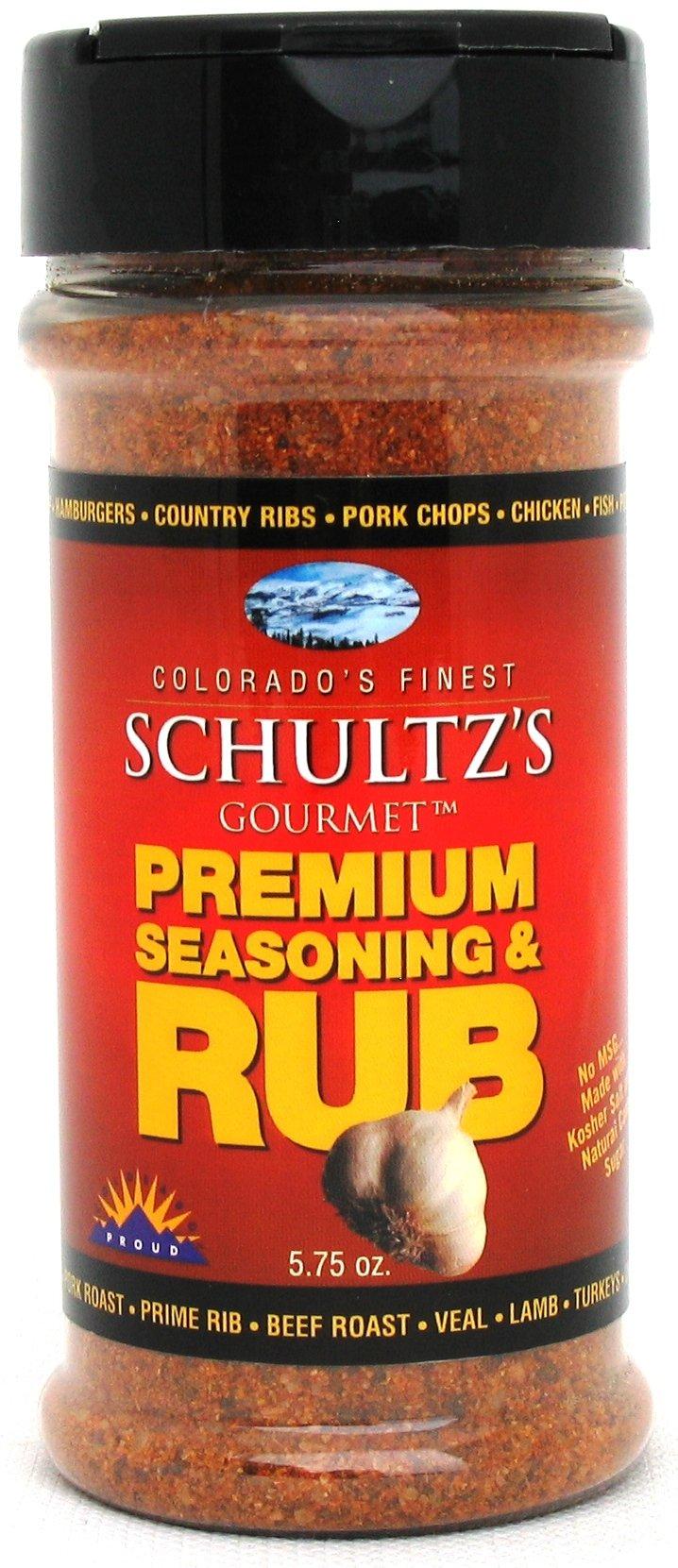 Schultz's Gourmet Premium Seasoning & Rub -- 5.75 oz