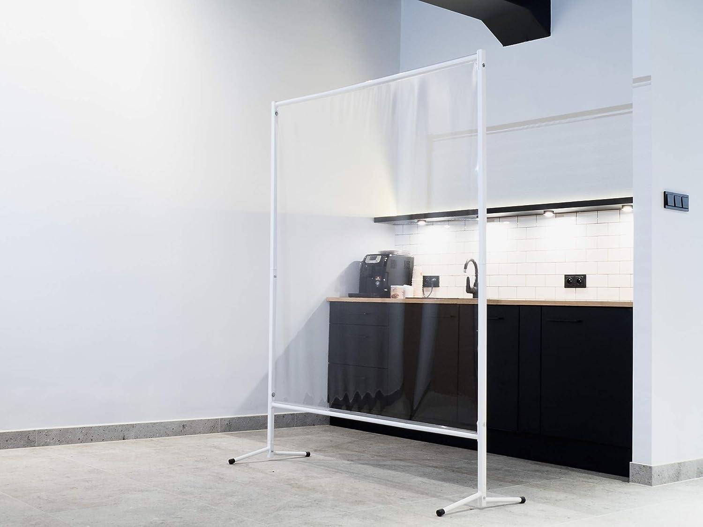 Displaysign Transparantes Roll Banner 100x200 cm Spukschutz Trennwand Stell Wand Hustenschutz