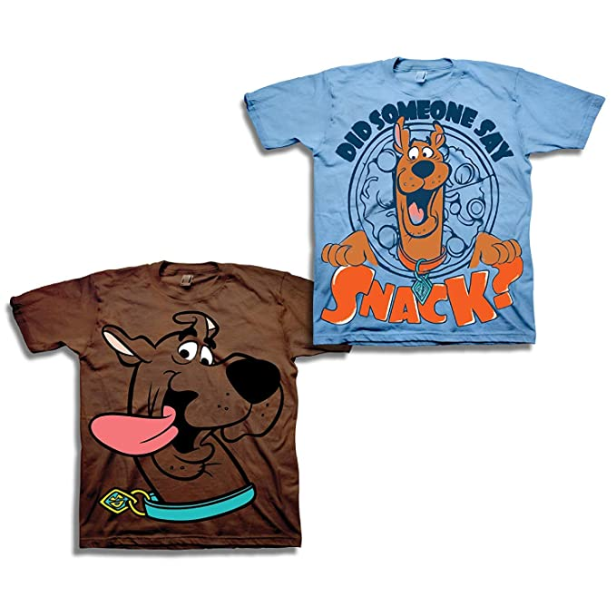 847d2c2a Amazon.com: Boys Scooby Doo Shirt Set - 2 Pack of Scooby Doo Tees - Scooby  Doo, Shaggy, Scrappy and Mystery Machine (Brown/SkyBlue, 2T): Clothing
