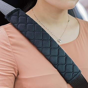 Premium Auto Gurtpolster Im Zweierpack Polsterung Für Sitzgurt Im Auto Damit Sie Und Ihre Familie Eine Entspannte Reise Haben Auch Für Kinder Geeignet Schwarz Auto