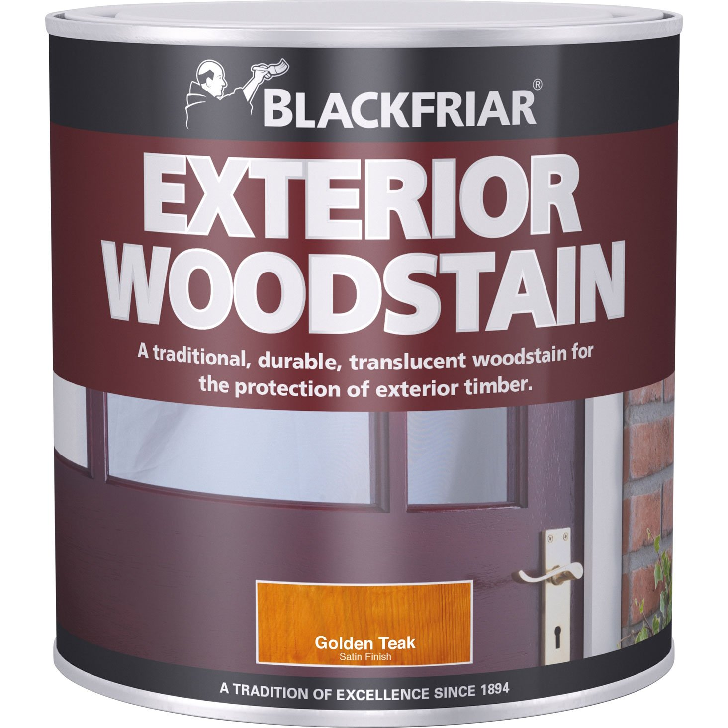 Blackfriar BKFTEWSRM1L Traditional Exterior Woodstain, 1 Litre, Rich Mahogany Toolbank