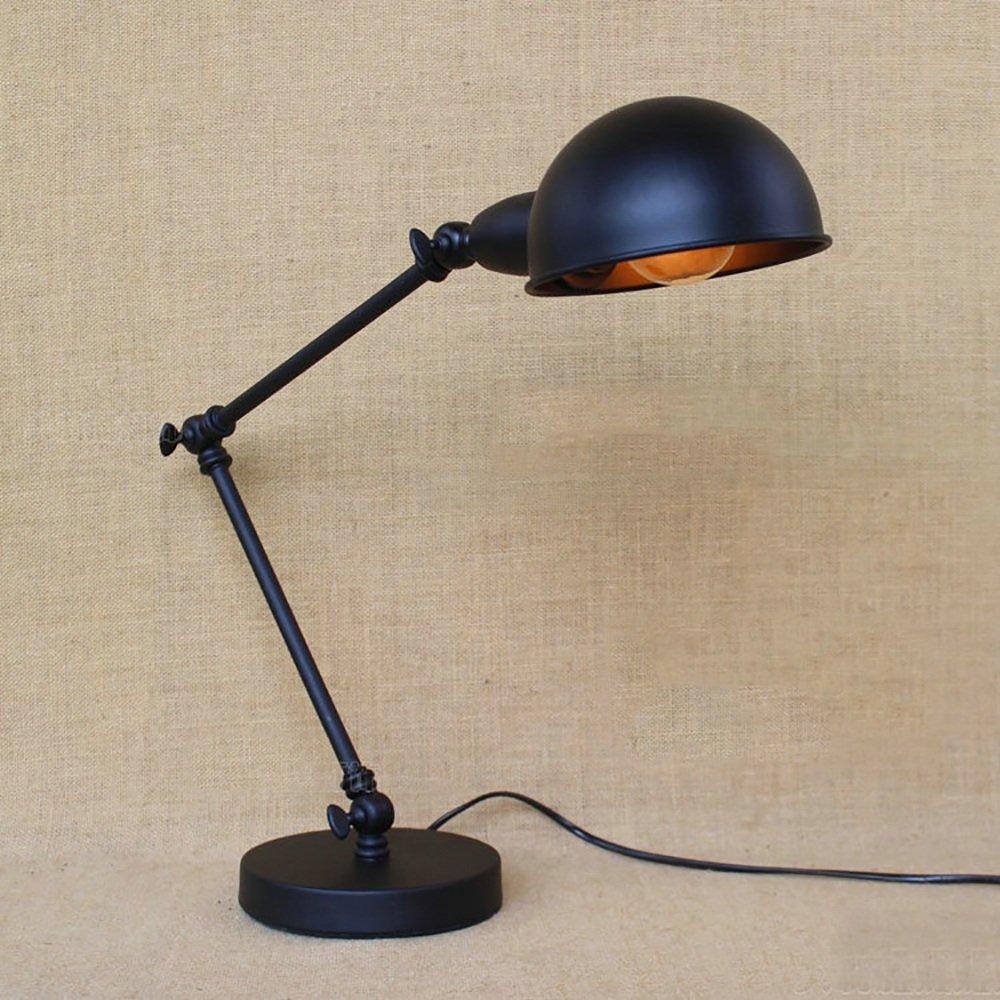 TOYM UK Nordic Retro Eisen Industrie LOFT lange Arm Doppelbett Scheinwerfer kreative Tischlampe