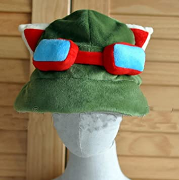 New League Of Legends Lol Teemo Hat Cosplay Green Plush Cap Costume Game Gift & New League Of Legends Lol Teemo Hat Cosplay Green Plush Cap Costume ...
