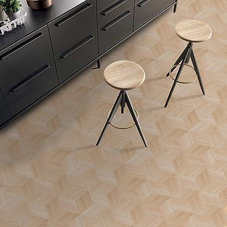 APSOONSELL Self adhesive Wood Grain Tile Stickers/Waterproof 3D ...