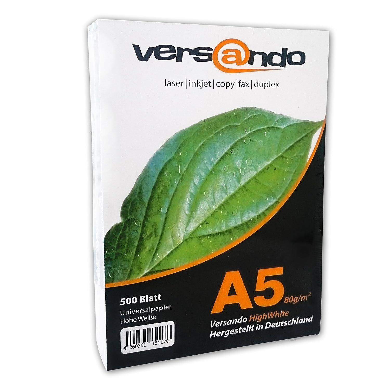 Versando VAHW Papel ecológico universal para impresoras y fotocopiadoras hojas DIN A