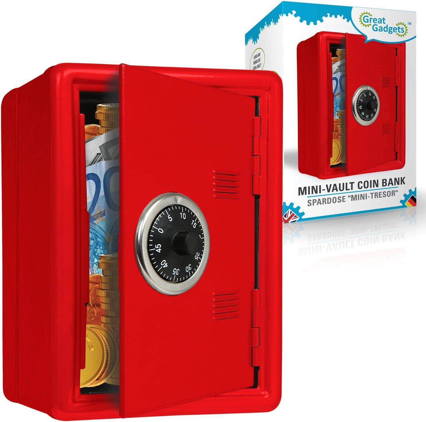 GreatGadgets 1581-2 mini-cámara acorazada del banco de moneda rojo: Amazon.es: Juguetes y juegos