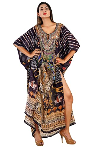 Silk kaftan online one piece dress on sale/jeweled/hand made/formal/