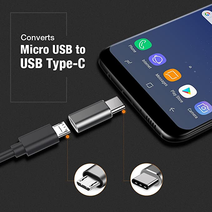 Amazon.com: Adaptador USB C, adaptador USB-C a micro USB ...