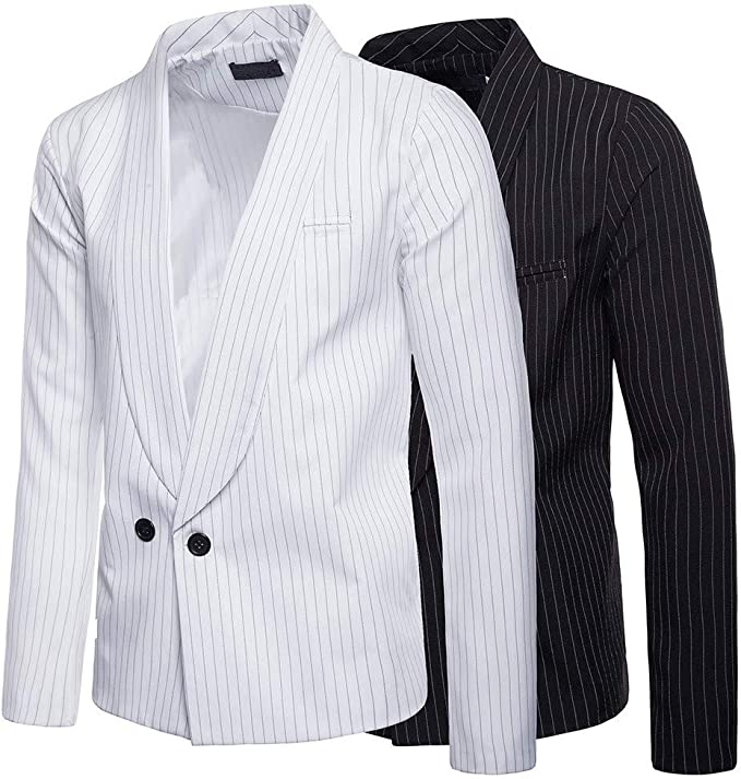 WSPLYSPJY Mens Slim Fit Single Breasted Leisure Business Rugged Suit Blazer Jackets