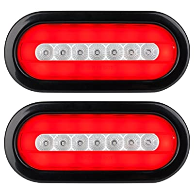 "Lumitronics RV HALO LED 6"" Sealed Oval Stop/Turn/Tail Lights (Clear Pair): Automotive"